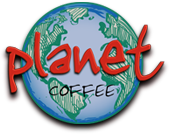 planet coffee logo
